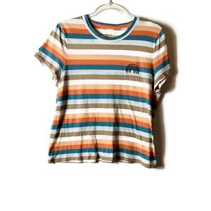 Madewell Striped Tee   Size L